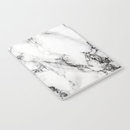 White Faux Marble Texture Notebook