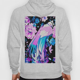 Peacock Tropical Ready for Spring Flowers Hoody