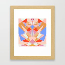 Flat Geometric no.35 Shapes and Layers Framed Art Print