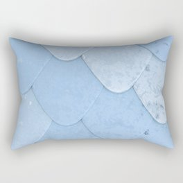 Pattern of blue rounded roof tiles Rectangular Pillow
