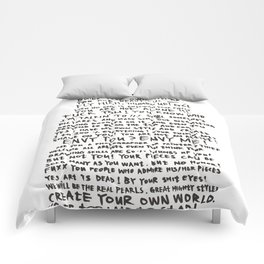 DRUNKEN PAUL PIERROT'S LETTER TO THE GREAT ARTISTS AND BAD ARTISTS. Comforters