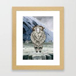 One Sheep Framed Art Print