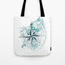 Compass Sketch Tote Bag