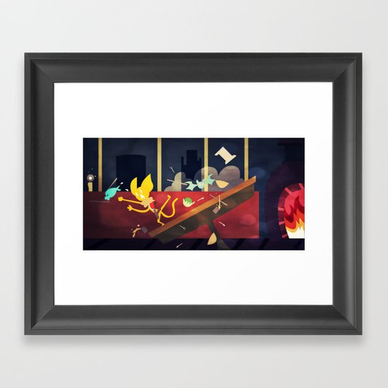 The Kitchen Of Unending Food Framed Art Print