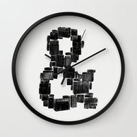ampersand Wall Clocks featuring Ampersand by Jorge Garza