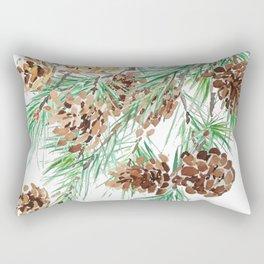 pine cones watercolor Rectangular Pillow