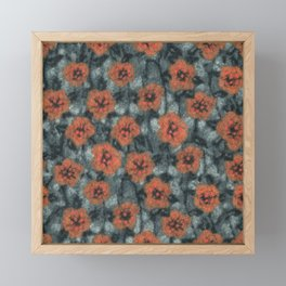 Orange Flowers Framed Mini Art Print