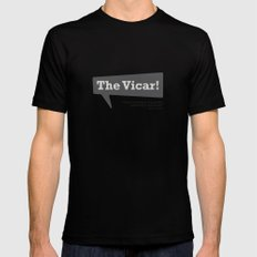 The Vicar Mens Fitted Tee MEDIUM Black