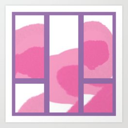Expressive Windows of Purple Art Print