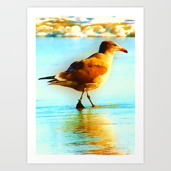 You are the Only Gull for Me! Art Print