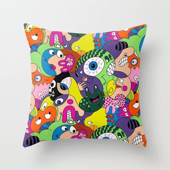 Alien Pattern Throw Pillow