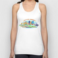 cities Tank Tops featuring Twin Cities by Jane Gardner