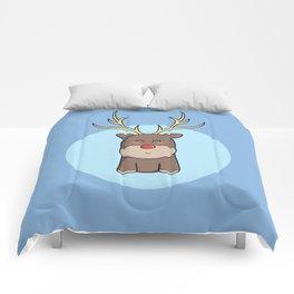 Cute Kawaii Christmas Reindeer Comforters