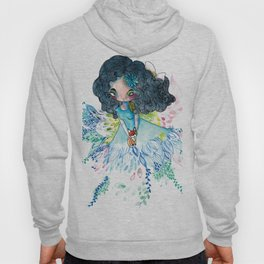 Blue nature with baby fox Hoody
