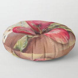 RED APPLES on the table Classic Still life Painting Floor Pillow