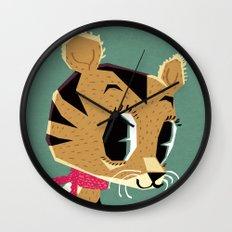 little tiger cub Wall Clock