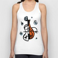 cello Tank Tops featuring Cello by Ewen Prigent
