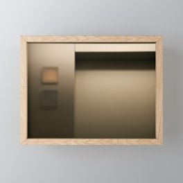 Elevator Framed Mini Art Print