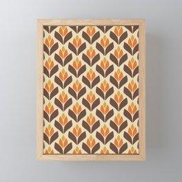 Retro Trefoil Pattern Framed Mini Art Print