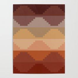 Geometric Aztec II Poster