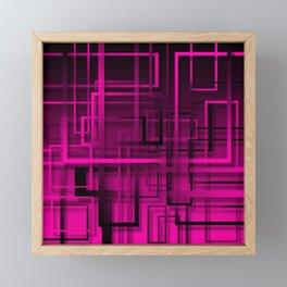 Black and purple abstract Framed Mini Art Print