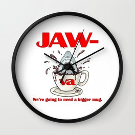 Jaw-va Wall Clock