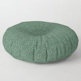 Green stars Floor Pillow