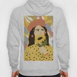 Sunflowers In Your Face Hoody