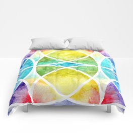 Watercolor circular abstraction Comforters