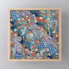 Japanese River Pattern. Framed Mini Art Print