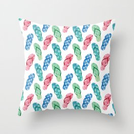 flip-flops Throw Pillow