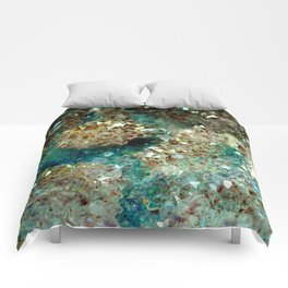 SPARKLING GOLD AND TURQUOISE CRYSTAL Comforters