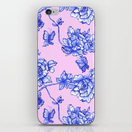 Chinoiserie Floral Blush Pink iPhone Skin