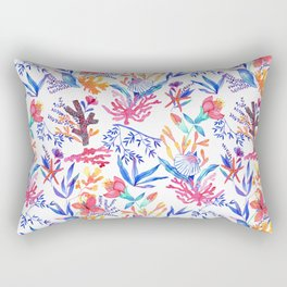Ocean print pink Rectangular Pillow