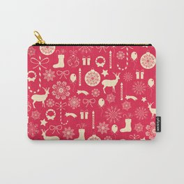 White Objects Christmas Pattern Carry-All Pouch