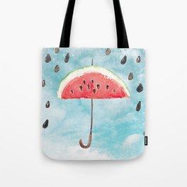 Melon - Fruity Summer Rain Tote Bag