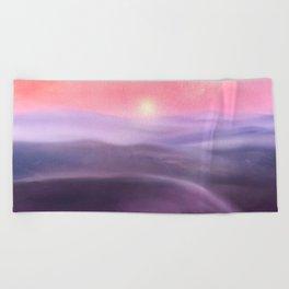 Minimal abstract landscape III Beach Towel