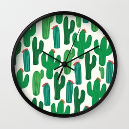 Cactus II Print Wall Clock