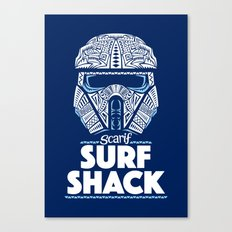 Space Surf Shack Canvas Print
