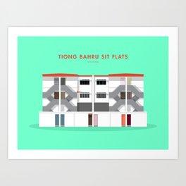 Tiong Bahru SIT Flats, Singapore [Building Singapore] Art Print