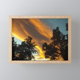 Sky Flame Framed Mini Art Print