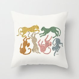 Rainbow Cheetah Throw Pillow