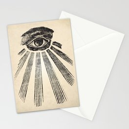 All Seeing Eye Art Print Stationery Cards