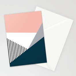 Colorful geometry 2 Stationery Cards