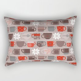 Snow Day Mugs - Chocolate Rectangular Pillow