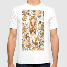 The Queen of Pentacles White MEDIUM Mens Fitted Tee
