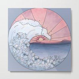 Flower Wave Metal Print