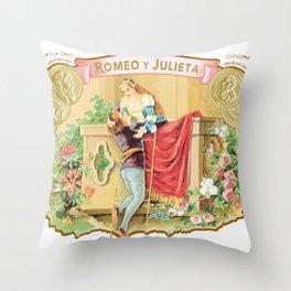 ROMEO Y GIULIETA CIGARS Throw Pillow