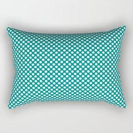 Lapis and White Polka Dots Rectangular Pillow