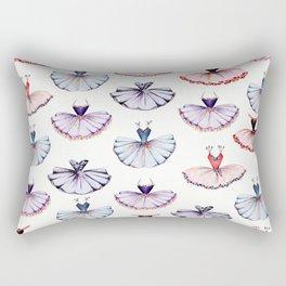 Cute girly ballet tutus pattern Rectangular Pillow